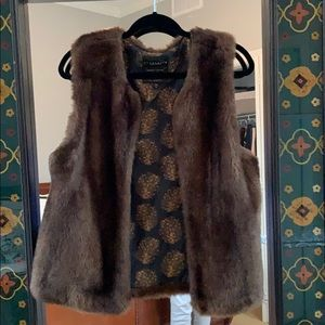 Anthropologie by sanctuary faux fur vest